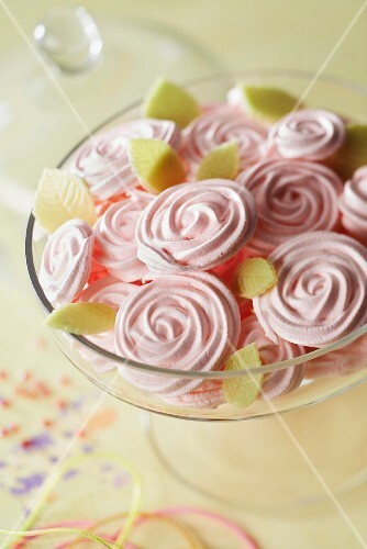 Bunch of meringue roses
