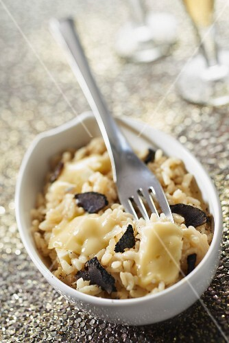 Camembert risotto with truffles