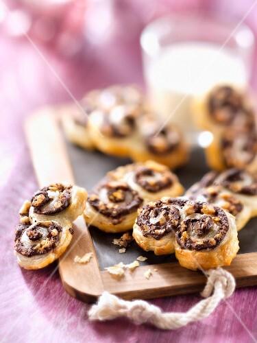 Chocolate and hazelnut Palmiers