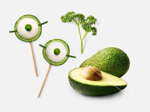 Avocado and cucumber bites