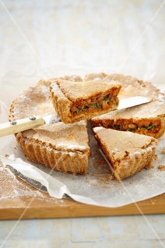 Tuna and sardines tart