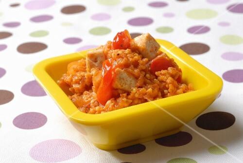 Millet pliau with tofu