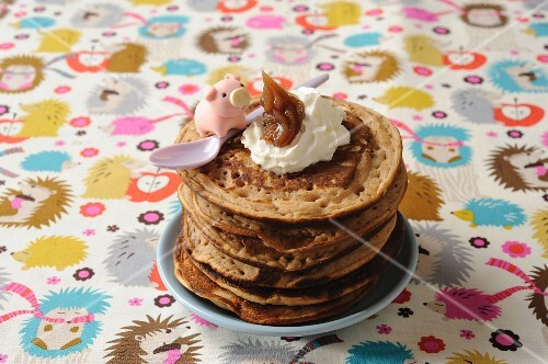 Pancakes made with chestnut flour