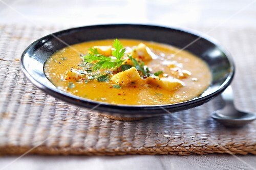West Indian fish and sweet potato soup