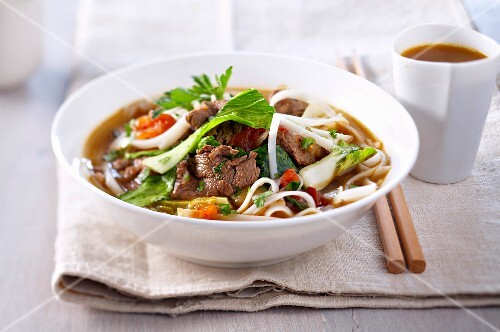 Tibetan lamb, noodle and vegetable soup