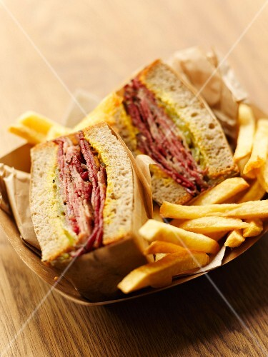 Pastrami sandwich at Frenchie to go in Paris