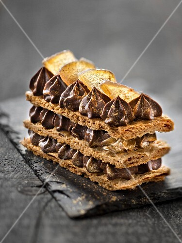 Chocolate-ginger Mille-feuille