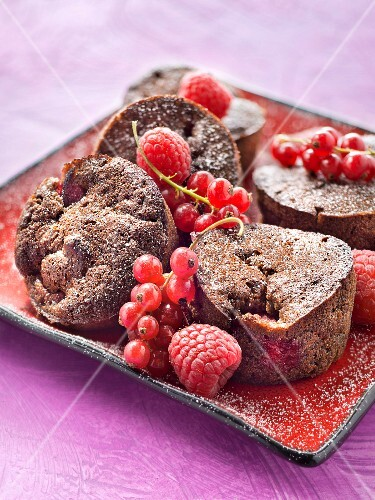 Oreo and raspberry muffins