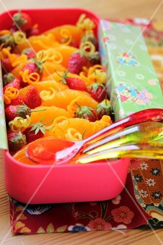 Orange and strawberry fruit salad