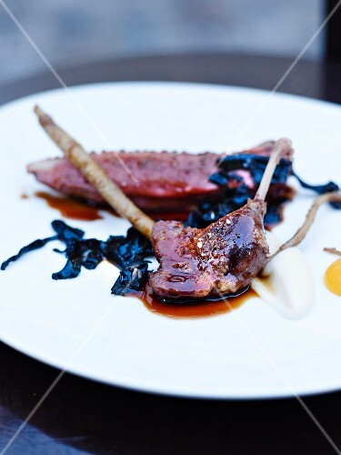 Pigeon with seaweed from Chez Frenchie in Paris