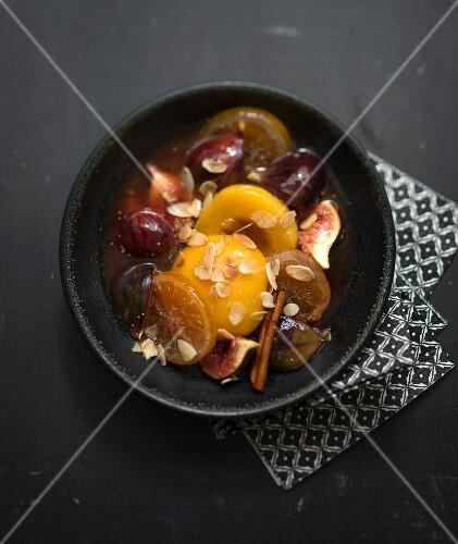 Fig, peach, lemon and cinnamon tajine