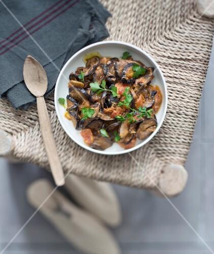 Eggplant and cinnamon tajine