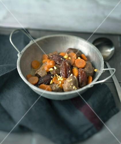 Turkey, carrot and date tajine