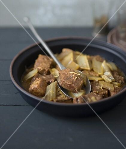Beef and cardoon tajine