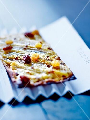 Thin fruit tart at The Café Bras in Rodez