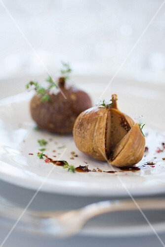 Figs stuffed with foie gras