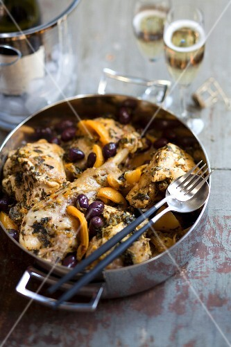 Turkey,olive and confit citrus Fricassée