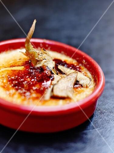 Savory Catalan artichoke Crème brulée