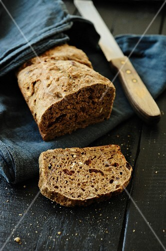 Mixed grain and cranberry bread