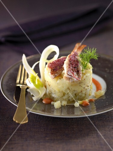Red mullet and fennel individual Parmentier