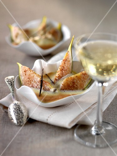Figs and Champagne sabayon