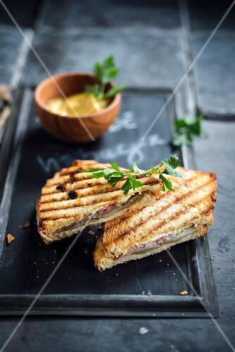 Chicory-ham toasted sandwich