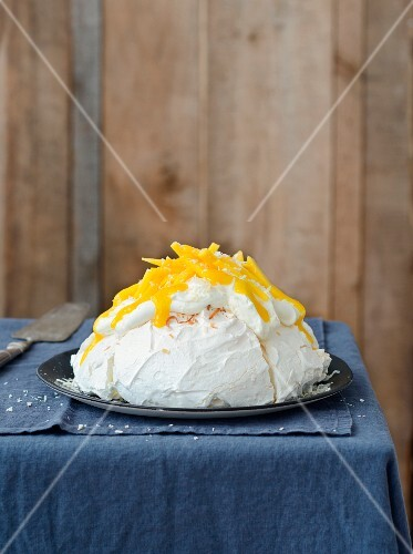 Coconut and passionfruit Pavlova