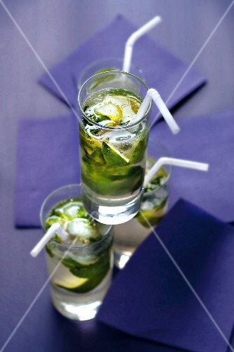 Glasses of mojito