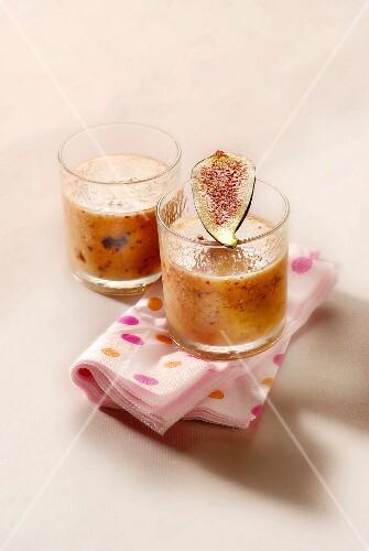 Banana,fig,orange and rose water smoothie