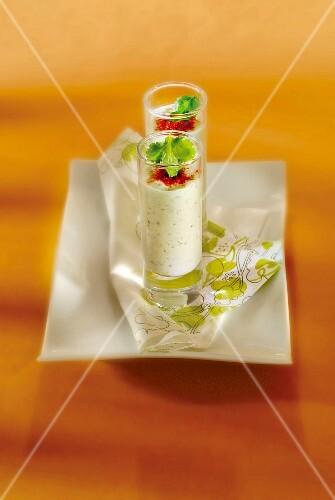 Cucumber,coriander and paprika yoghurt lassi