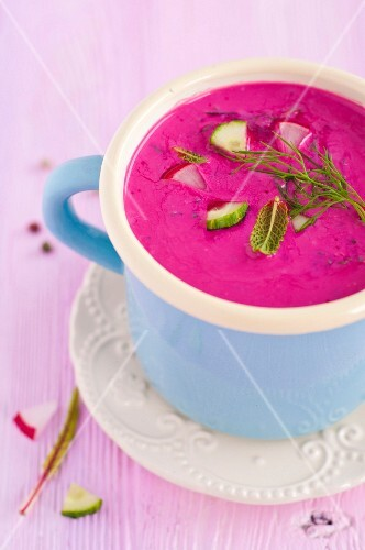 Cold beetroot soup from Lithuania