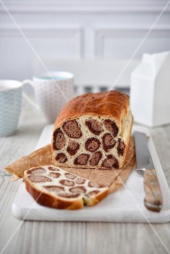'Leopard print' white bread