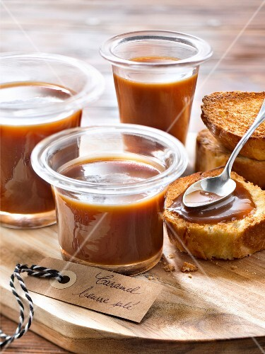 Salted butter toffee spread on toast