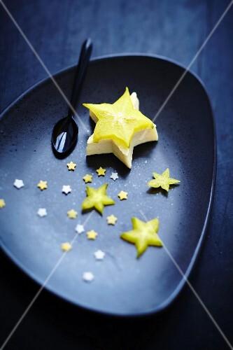 Sliced star fruit sky
