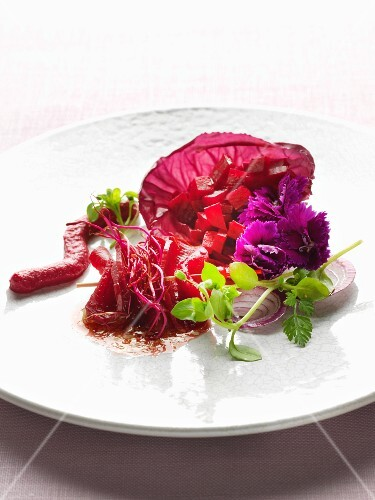 Different versions of beetroot dishes