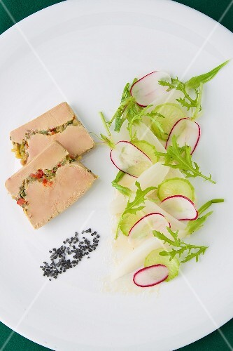 Foie gras with summer vegetables