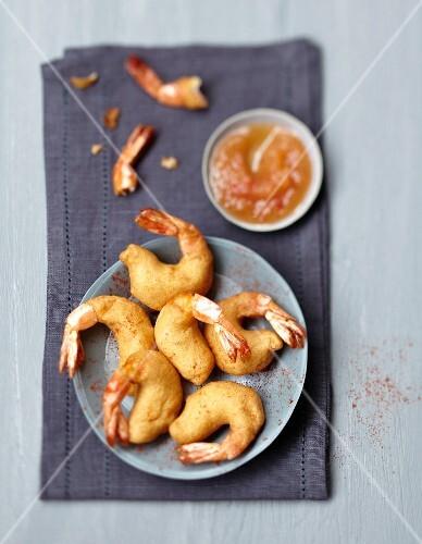Shrimp tempuras,sweet and sour sauce