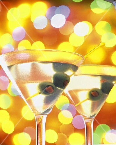 Martinis in a Colorful Background