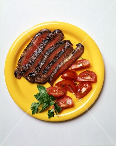 Sliced Flank Steak with Tomatoes