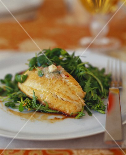 Fish Fillet with Broccoli Rabe