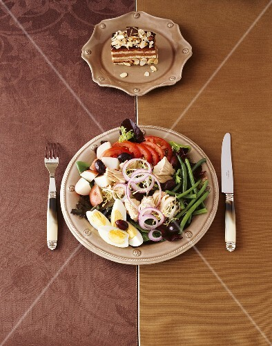 Nicoise Salad with Tiramisu
