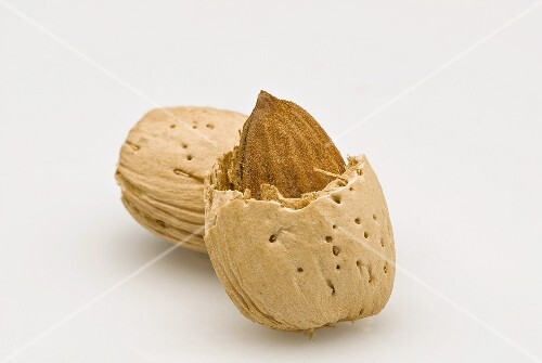 An opened almond