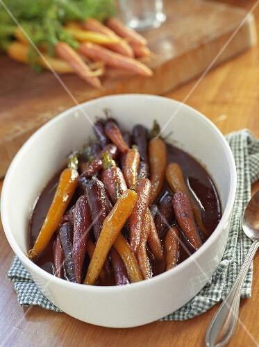 Brown Sugar Glazed Whole Carrots