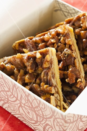 Pecan Triangles; Holiday Cookies on a Box