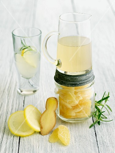 Culinary Cocktail with Lemon Ginger Syrup