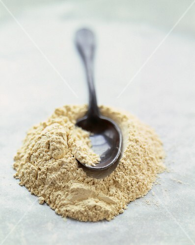 Small Mound of Flour with a Spoon