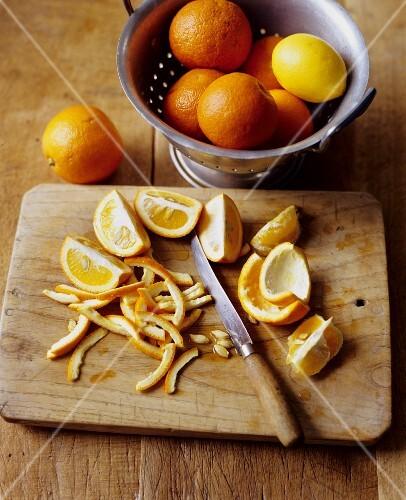 Preparing Oranges for Marmalade