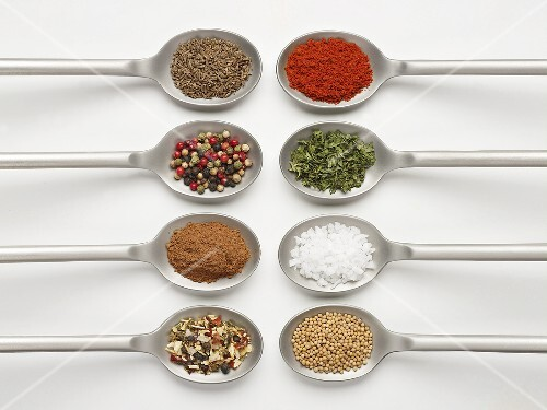 Eight Spoonfuls of Assorted Spices